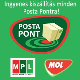 Ingyenes szállítás minden Posta Pontra